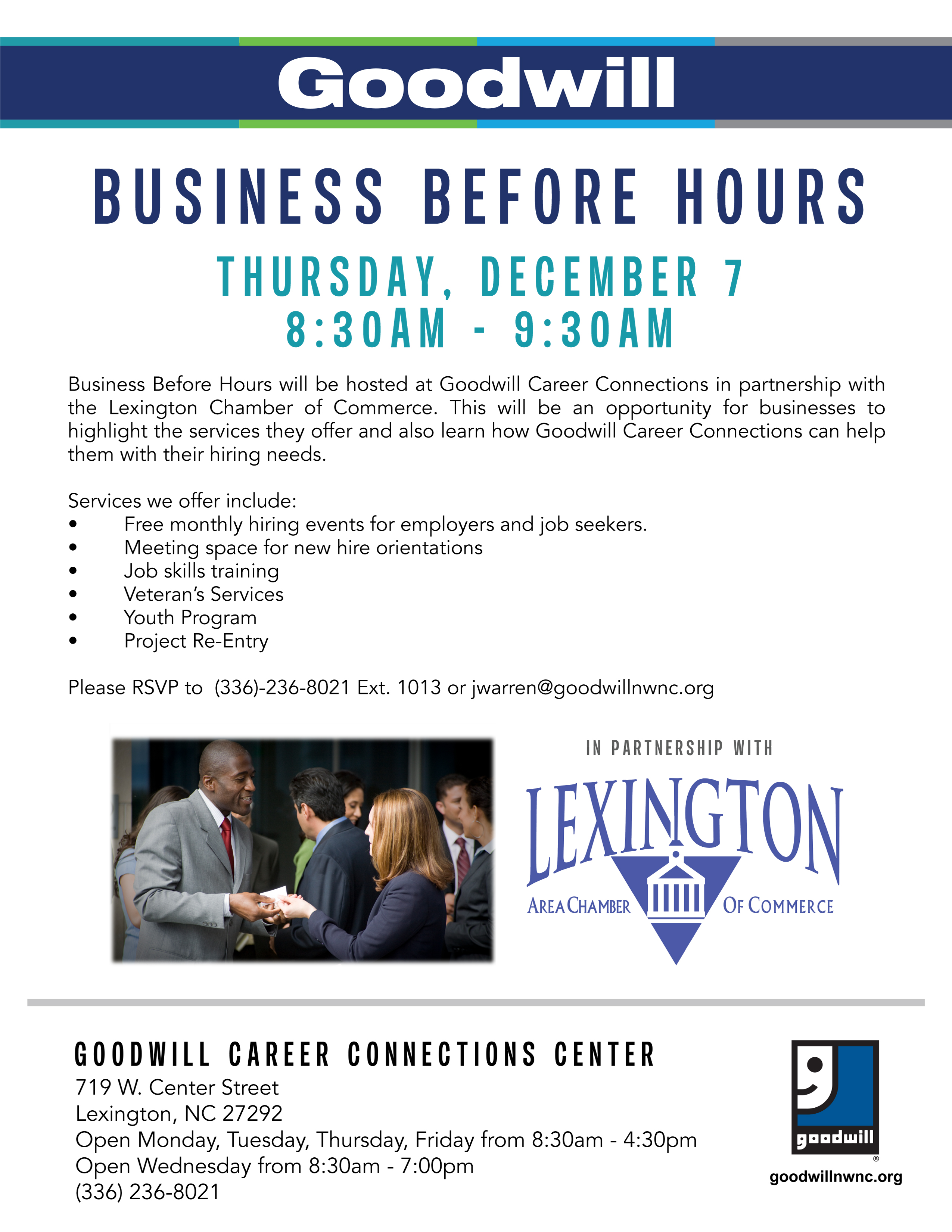 Business Before Hours Goodwill Career Connections